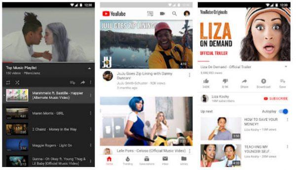 تطبيق YouTube الرسمي للهواتف والأجهزة اللوحية