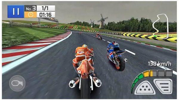 لعبة سباق الدراجة الحقيقي